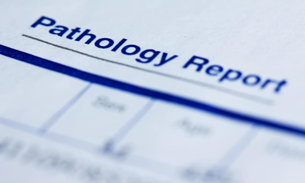 header of a pathology report